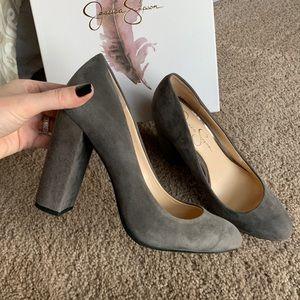 Jessica Simpson Belemo suede heels